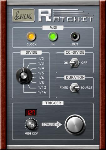 Ratchit MIDI Ratcheting Plugin